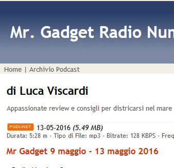 Info on Mr. Gadget Radio Number One